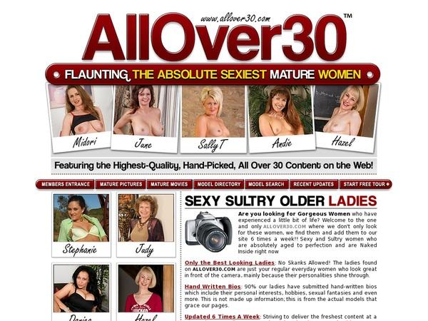 All Over 30 Original Discount Sign Up
