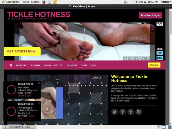 TICKLE HOTNESS Contraseña
