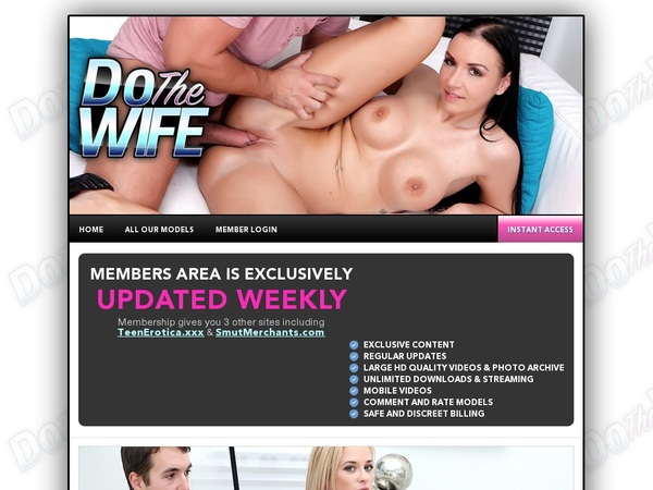 Do The Wife Free Trial Promo
