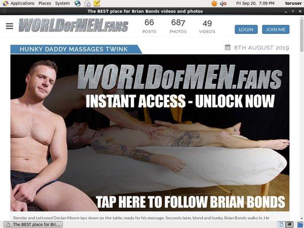 Free Brianbondsworldofmenfans Login Account